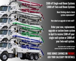 April Boom System Special PLUS Freight Bonus