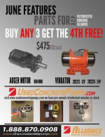 June Features Auger Motors and Vibrators - Save $475   ID#1811
