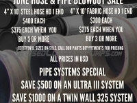 June Specials: Whip Hoses and Pipe Systems