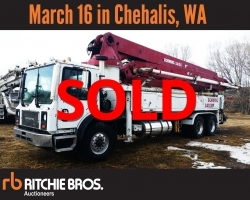 2005 Schwing 41m on a 2005 Mack